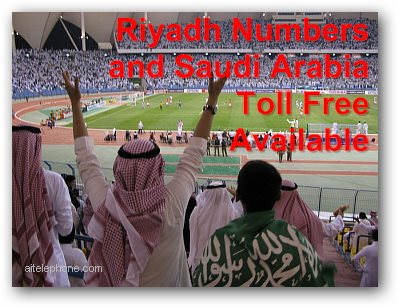 Riyadh and Saudi Arabia toll free virtual phone numbers
