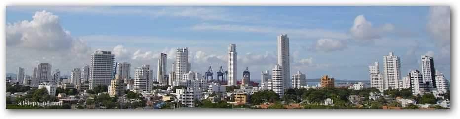 Colombia skyline panoramic image