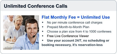 Unlimited conference call plan