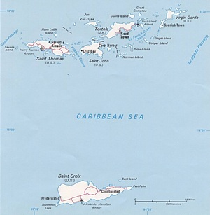 US Virgin Islands Map CIA