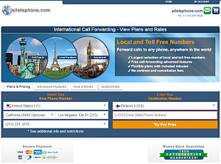 Free Trial - Click view global virtual number rates and plans - Country Availability and Sign Up Form
