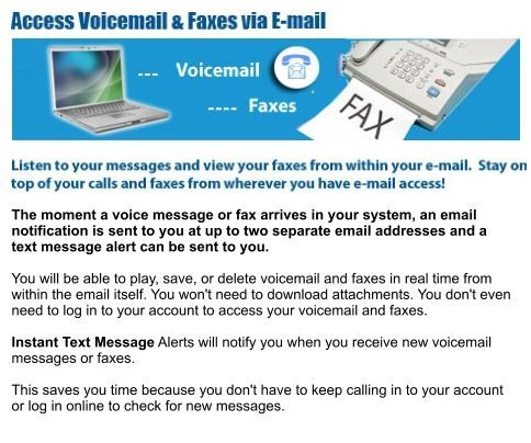 Unlimited Toll Free Voice Mail | If the Caller Wishes To Speak With You Directly, Telecommunications Center Contacts You